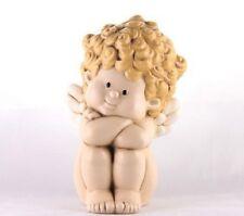 Angelo Marcangelo Seduto in Ceramica EGAN Made in Italy 6 x 9 cm