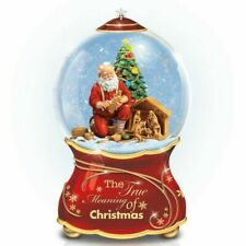 Thomas Kinkade Bradford Exchange True Meaning of Christmas Snow Globe