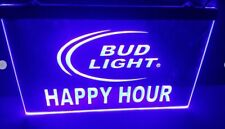 Happy Hour Bud Light Bar Beer pub club 3d signs Led Neon Sign