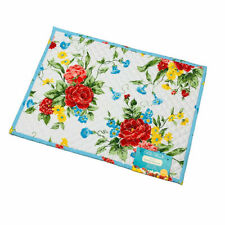 The Pioneer Woman Sweet Rose Floral Quilted Reversible Placemats 4x