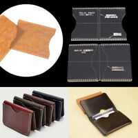 2pcs Acrylic Clear Craft Pattern Template Tool For Leather Wallet Bag  BHQ