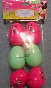 Disney Minnie Mouse Decal Easter Eggs 6 ct. 3 yrs+ New 2016