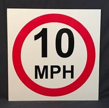 10 MPH sign Used Plaque Sign Bar Pub Club Wall Home Den Man Cave Decor Shed