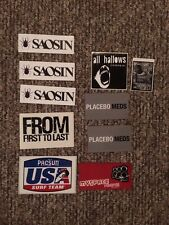 Saosin Sticker Lot Bands From First To Last Placebo Hot Topic Stickers Music