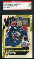 Brandon Saad 2010 11 In The Game Rookie SGC Coa Autograph Authentic Hand Signed