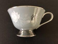 Royal Heritage China Japan RHR6 White Rose & Leaves, Platinum Trim - TEA CUP
