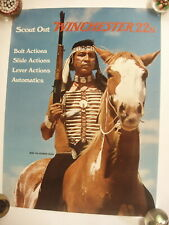 VINTAGE Winchester Scout Out 22's model 290 auto Paper Poster Advertising Sign