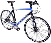 "AMMACO FBR750 MENS 700C WHEEL FLAT BAR ROAD RACING BIKE 59CM (23"") ALLOY FRAME"