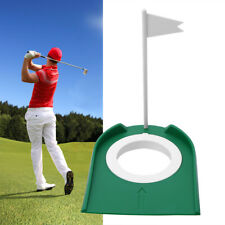 Indoor Outdoor Golf Putting Cup Practice Aids w/ Adjustable Hole White Flag
