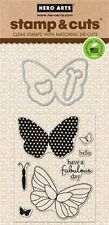Hero Arts Stamp & Cuts Butterflies #252 DC134 Stamp with Die