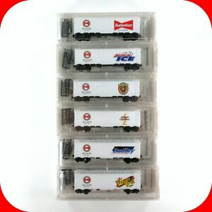 N Scale BUDWEISER BREWERY BEER Reefer 6-Car Set MICRO TRAINS 1999 SPECIAL *RARE*