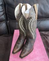 ARANGO Brown Western Boots Size 10 Women - Cowboy Boots