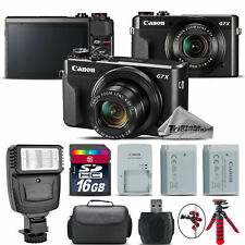 Canon PowerShot G7 X Digital 20.1MP WiFi NFC Camera + EXT BAT + Flash -16GB Kit