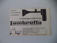 advertising Pubblicità 1963 MOTOFURGONE LAMBRETTA 175 LI /II SERIE