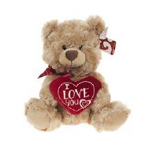 San Valentino Orsacchiotto Morbido Peluche Giocattolo con i Love You Cuore 20cm