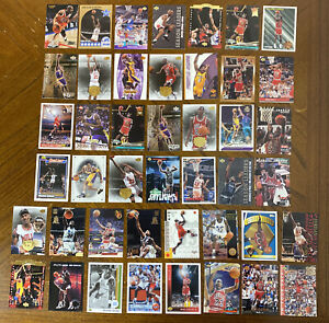 1990s-2000s BASKETBALL HOF / STAR LOT(44) ALL KOBE JORDAN & SHAQ CARDS EX-NM-MT