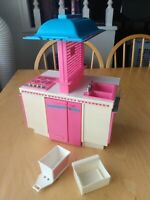 1984 Mattel BARBIE Dream Kitchen playset, as is