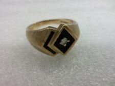 Fritz Rossier Art Deco 10k Gold Diamond Accent Ring