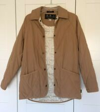Barbour Teesdale Lightweight Quilted Jacket Beige Size UK 10