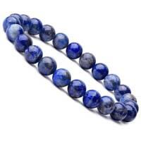 Natural Lapis Lazuli Bracelet Healing Crystal Stretch Beaded Bangle 8MM Unisex
