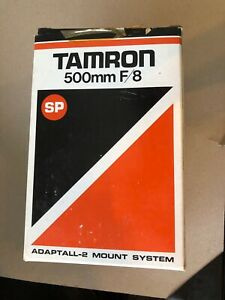 TAMRON-SP 500MM F/8 TELE MACRO CATADIOPTRIC LENS IN ORIGINAL BOX!  NICE!