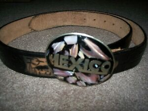 Mexico Belt Buckle and Belt