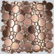 Fliesenbelag in Stahl Kupfer für Boden und Wand loop-cuivre