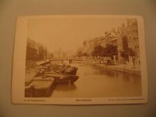 Amsterdam Netherlands Hollands Kloveniersburgwal Canal Cabinet Card Photo cdii