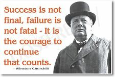"Winston Churchill - ""... Failure is Not Fatal..."" NEW Famous Person POSTER"