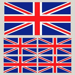 5 Union Jack Flag decals GB stickers Best value on Ebay