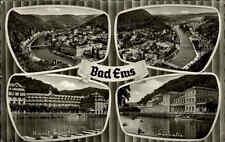 Bad Ems AK 1959 Mehrbildkarte Kurhaus Fluß Panorama Stadt Häuser Kur Landschaft