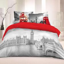 Bettwäsche 135x220 Cm London V2 Bettgarnitur 3-teilig 100 % Baumwolle