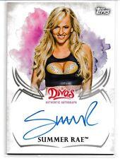 Summer Rae 2015 Topps WWE Undisputed Autographs Card # UASRA