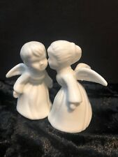 Vintage Josef Originals Kissing Angels White in Euc Made In Korea with Labels