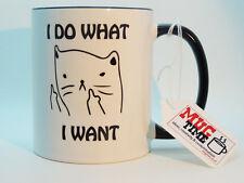 Cat-hago lo que quiero-Lindo Taza Taza-Té Café Mascota Blanco, 11 OZ