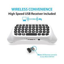 Blanco Mini teclado inalámbrico apto para XBOX ONE Mando con 2.4g RECEPTOR USB