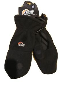 Lowe Alpine Fingerless Convert Mitten Glove BNWT Size Medium Skiing Winter Snow