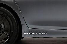 2x Skirt Side Stickers fits Nissan Almera Sticker Bodywork Car Decal VK55