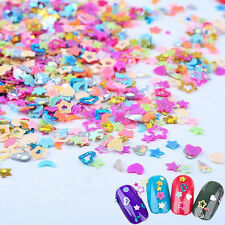 5000Pcs Heart Flower Sequins Nail Art Stickers Glitter Deco Holographic Craft