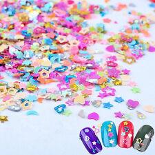 5000Pcs Sequins Nail Art Stickers 2-3mm Heart Star Flower Glitter Decal Tips