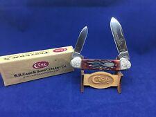 1997 Case Canoe Knife Red Bone Handles Scrolled Bolsters Mint- SN# 164 #14