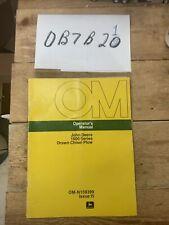 Omn159399 John Deere Owners Operators Manual 1600 Chisel Plow