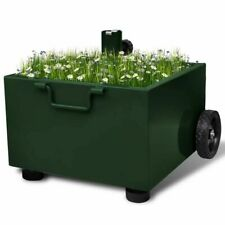 vidaXL Parasolvoet met Plantenbak Groen Parasol Voet Standaard Planten Bak