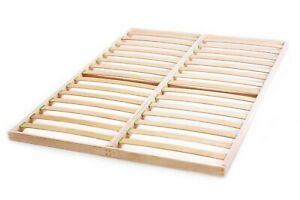 Slatted bed base 4ft6 x 6ft3 Double Birch Wood Orthopedic Easy Assembly Vintage