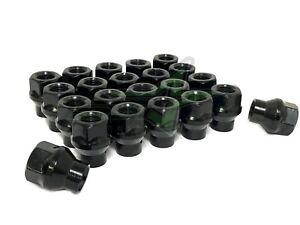 16 BLACK ET LUG NUTS 12X1.5   FITS MOST HYUNDAI KIA 4 LUG WHEELS