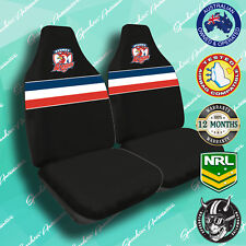 NEW! SYDNEY ROOSTERS FRONT CAR SEAT COVER, OFFICIAL NRL, AIRBAG COMPATIBLE!