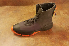 Y-3 Y3 Yohji Yamamoto 'Future Zip High' Sneakers Gray Orange Mens 7 D MSRP $435