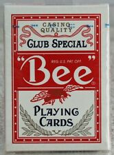 Bee Casino Quality Club Special Playing Cards No. 92 Red New Factory Sealed