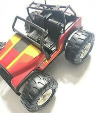 Vintage 1970s TONKA - RED JEEP DUNE BUGGY Vehicle MR-970 Tires Broke Roll cage