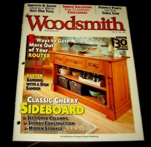 Woodsmith Magazine DEC JANUARY 2010 #186 Table Saw Clamping Router Disk Sanding